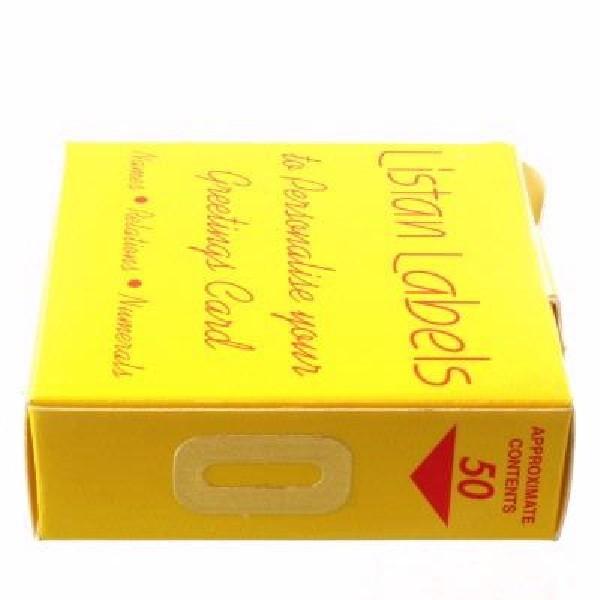 GOLD NO. 0 LISTAN LABELS 50S