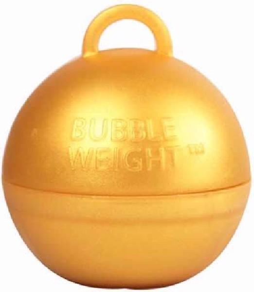 BUBBLE BALLOON WEIGHT GOLD 25S