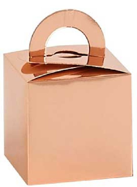 ROSE GOLD BALLOON WEIGHT BOXES