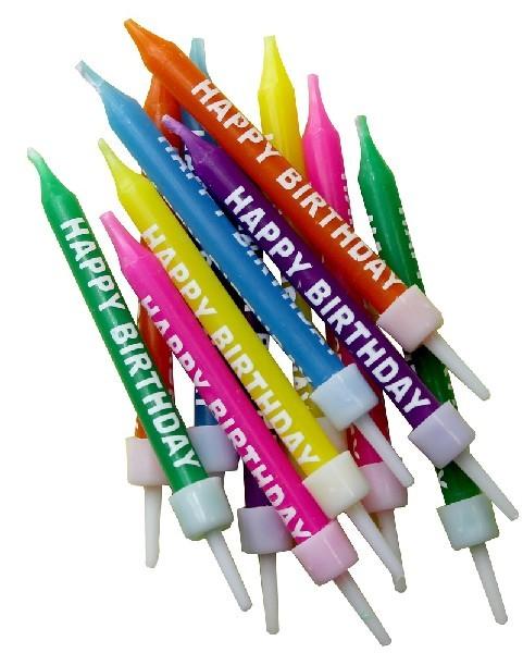 75cm Multi Happy Birthday Candles