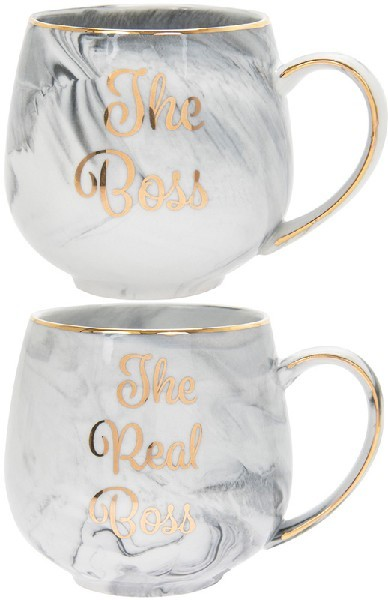 2SET MARBLE BOSS & REAL BOSS MUG