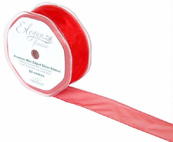 WIRED RIBBON 32MMX20M RED