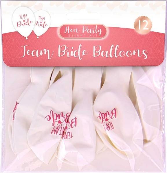 (12) TEAM BRIDE BALLOONS