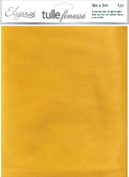 3M X 3M GOLD TUILLE SHEET