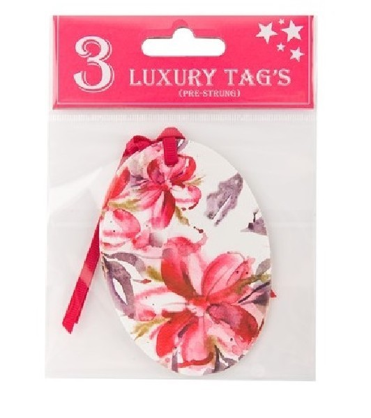 FLORAL GIFT TAGS  12S