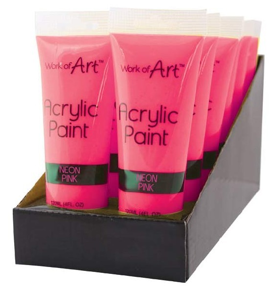 120ML NEON PINK ACRYLIC PAINT