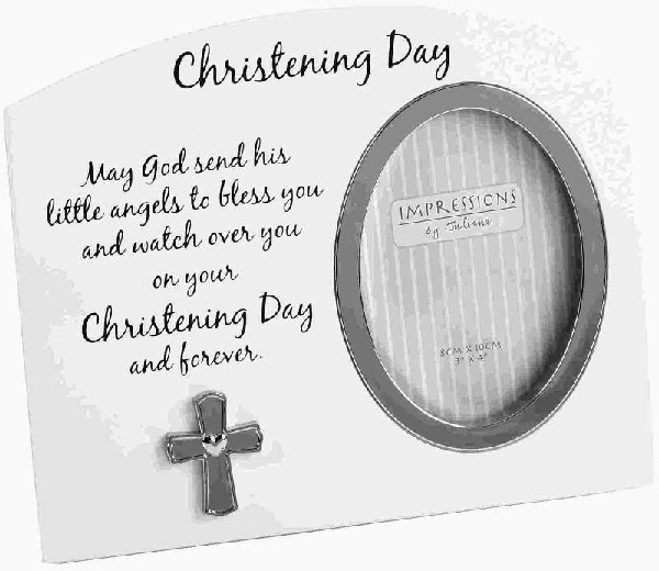 CHRISTENING DAY 3X3IN FRAME