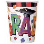 (8) 9OZ GRADUATION CAP 9OZ CUPS