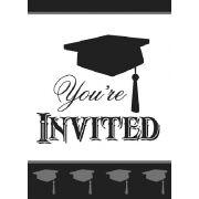 (8) SIMPLY GRAD INVITATIONS