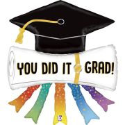 44in YOU DID IT GRAD DIPLOMA FOIL BALLOON