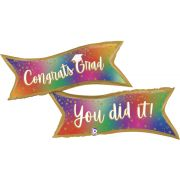 49in COLORFUL BANNER GRAD FOIL BALLOON